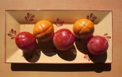 πέντε persimmons Στοκ φωτογραφία με δικαίωμα ελεύθερης χρήσης