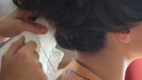 Πέπλο φορεμάτων νυφών απόθεμα βίντεο