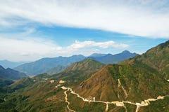 Πέρασμα βουνών γιων του Lien Hoang στο Βιετνάμ Στοκ εικόνα με δικαίωμα ελεύθερης χρήσης