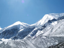 πέρασμα βουνών Λα thorong στοκ φωτογραφία