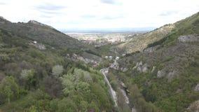 Πέρασμα βουνών στη Βουλγαρία απόθεμα βίντεο