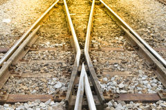 πέρασμα διαδρομών σιδηροδρόμου Στοκ εικόνες με δικαίωμα ελεύθερης χρήσης