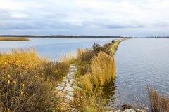 Πέρασμα κοντά στις εκβολές του ποταμού Vistula, Πολωνία Στοκ Εικόνα