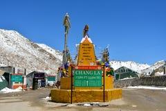 Πέρασμα Λα Chang σε Ladakh, Ινδία Στοκ φωτογραφία με δικαίωμα ελεύθερης χρήσης