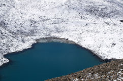 πέρασμα λιμνών Λα thorong στοκ φωτογραφία με δικαίωμα ελεύθερης χρήσης