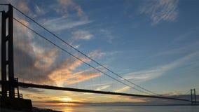 Πέρασμα ποταμών γεφυρών Humber Κίνγκστον επάνω στο Hull Στοκ φωτογραφία με δικαίωμα ελεύθερης χρήσης