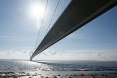 Πέρασμα ποταμών γεφυρών Humber Κίνγκστον επάνω στο Hull στοκ εικόνες