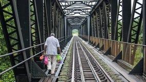 Πέρασμα ποταμών σιδηροδρόμων σε Mentakab στοκ εικόνα