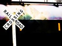 Πέρασμα σιδηροδρόμου Στοκ Εικόνες