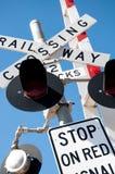 Πέρασμα σιδηροδρόμων στην Αυστραλία Στοκ Φωτογραφίες