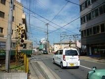 Πέρασμα σιδηροδρόμων στο Κιότο, Ιαπωνία Στοκ φωτογραφία με δικαίωμα ελεύθερης χρήσης