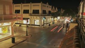 Πέρασμα της οδού Key West Duval απόθεμα βίντεο