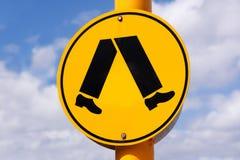 πέρασμα του για τους πεζούς σημαδιού Στοκ εικόνες με δικαίωμα ελεύθερης χρήσης