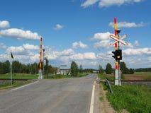 πέρασμα του σιδηροδρόμο&upsi Στοκ εικόνες με δικαίωμα ελεύθερης χρήσης