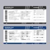 Πέρασμα τροφής εισιτηρίων αερογραμμών διάνυσμα Στοκ εικόνα με δικαίωμα ελεύθερης χρήσης