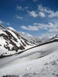 πέρασμα baralacha snowscape στοκ εικόνες