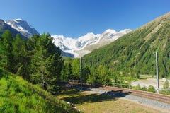 Πέρασμα Bernina, ελβετικές Άλπεις Στοκ Εικόνες