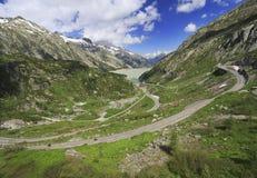 Πέρασμα Grimsel, βουνά Άλπεων, Ελβετία Στοκ φωτογραφία με δικαίωμα ελεύθερης χρήσης