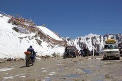 Πέρασμα Khardung, Ladakh, Ινδία Στοκ Εικόνα