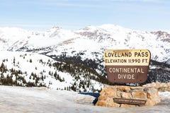 Πέρασμα Loveland στοκ φωτογραφίες με δικαίωμα ελεύθερης χρήσης