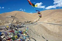 Πέρασμα NamikaLa στο ύψος 3720 μέτρου leh-Σπίναγκαρ στην εθνική οδό, Ladakh, Ινδία Στοκ Εικόνα