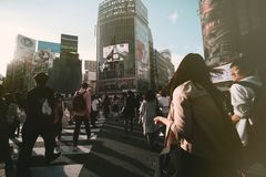 πέρασμα shibuya στοκ εικόνα