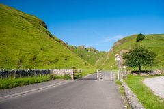 Πέρασμα Winnats, μέγιστο εθνικό πάρκο περιοχής, Derbyshire, Αγγλία, UK Στοκ φωτογραφία με δικαίωμα ελεύθερης χρήσης