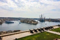 Πέρα από να φανεί το μεγάλο λιμάνι, Valletta, Μάλτα στοκ εικόνες