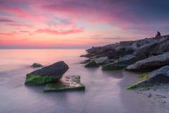 πέρα από την ανατολή θάλασσ&alph Στοκ Φωτογραφία