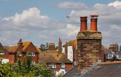 Πέρα από τις κορυφές στεγών - σίκαλη - UK στοκ εικόνα με δικαίωμα ελεύθερης χρήσης