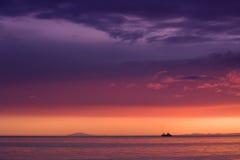 πέρα από το ηλιοβασίλεμα snaefe Στοκ Εικόνες