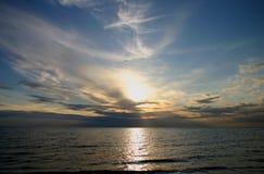 πέρα από το ηλιοβασίλεμα &theta στοκ εικόνες