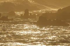 πέρα από το ηλιοβασίλεμα θάλασσας Στοκ Φωτογραφία