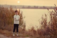 πέρα από το ηλιοβασίλεμα π&o Στοκ Φωτογραφίες