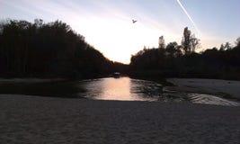 πέρα από το ηλιοβασίλεμα π&o Στοκ Φωτογραφία