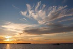 πέρα από το ηλιοβασίλεμα &theta Στοκ Φωτογραφίες