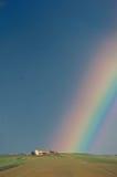 πέρα από το ουράνιο τόξο Τοσκάνη Στοκ Εικόνα