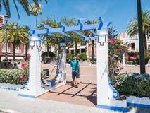Πέργκολα Plaza de Λα Coronacion, Aymonte, Ισπανία Στοκ φωτογραφία με δικαίωμα ελεύθερης χρήσης