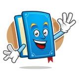 Πέστε γειά σου τη μασκότ βιβλίων, χαρακτήρας βιβλίων, κινούμενα σχέδια βιβλίων απεικόνιση αποθεμάτων