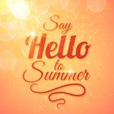 Πέστε γειά σου υπόβαθρο θερινής στο διανυσματικό ηλιοφάνειας διανυσματική απεικόνιση