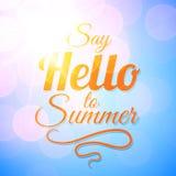 Πέστε γειά σου υπόβαθρο θερινής στο διανυσματικό ηλιοφάνειας απεικόνιση αποθεμάτων