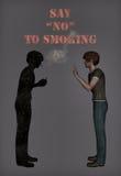 Πέστε το αριθ. στην καπνίζοντας απεικόνιση διανυσματική απεικόνιση