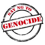 Πέστε το αριθ. στη γενοκτονία διανυσματική απεικόνιση