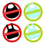 Πέστε το αριθ. στις πλαστικές τσάντες ελεύθερη απεικόνιση δικαιώματος