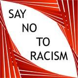 Πέστε το αριθ. στο ρατσισμό γραφικό απεικόνιση αποθεμάτων