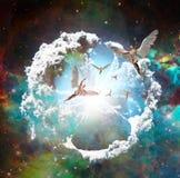 Πέταγμα αγγέλων διανυσματική απεικόνιση