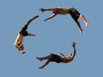 πέταγμα αγοριών Στοκ φωτογραφία με δικαίωμα ελεύθερης χρήσης