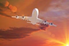 πέταγμα αεροπλάνων που απομονώνεται photoshop Στοκ φωτογραφία με δικαίωμα ελεύθερης χρήσης