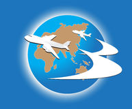Πέταγμα αεροπλάνων απεικόνιση αποθεμάτων