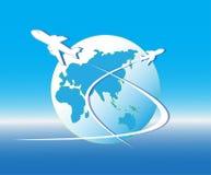 Πέταγμα αεροπλάνων διανυσματική απεικόνιση